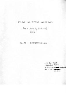 Fuga in stilo moderno: For strings by Ilias Chrissochoidis