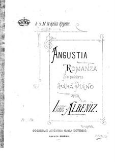 Angustia: Für einen Interpreten by Isaac Albéniz