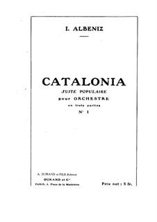 Catalonia: Studienpartitur by Isaac Albéniz