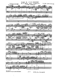 Fuga in stilo moderno: Für Klavier by Ilias Chrissochoidis