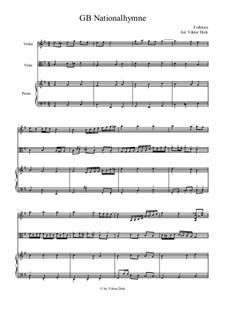 God Save the Queen: Für Violine, Viola und Klavier by Thomas Arne