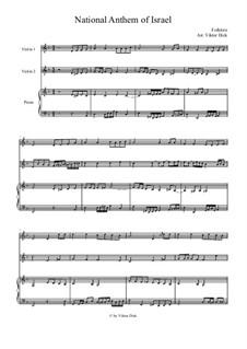 HaTikwa: Für zwei Violinen und Klavier by folklore