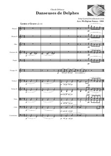 Nr.1 Tänzerinnen Delphis: For chamber orchestra by Claude Debussy