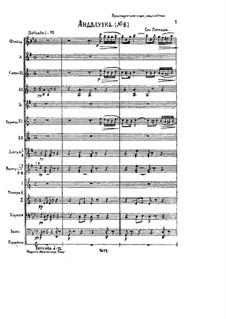 Fünfundzwanzig Stücke, Op.20: Nr.8 Andalouse, für Orchester by Emile Pessard