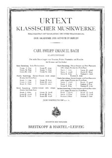 Sammlung I, Wq 55: Vollständiger Satz by Carl Philipp Emanuel Bach