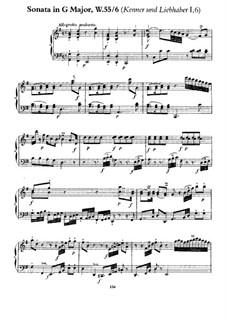 Sammlung I, Wq 55: Sonate Nr.3 in G-Dur by Carl Philipp Emanuel Bach