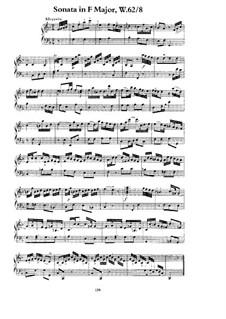 Sonate für Tasteninstrumente in F-Dur, H 55 Wq 62:8: Für einen Interpreten by Carl Philipp Emanuel Bach