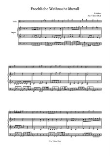 Fröhliche Weihnacht überall: Für Viola und Orgel by folklore