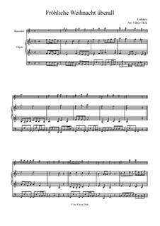 Fröhliche Weihnacht überall: Für Blockflöte und Orgel by folklore