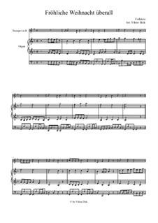 Fröhliche Weihnacht überall: Für Trompete in B und Orgel by folklore