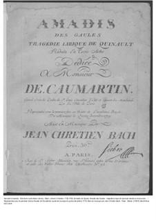 Amadis des Gaules, Overtüre - Partitur, W G39: Ouvertüre – Partitur by Johann Christian Bach