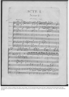 Amadis des Gaules, Overtüre - Partitur, W G39: Akt I – Partitur by Johann Christian Bach