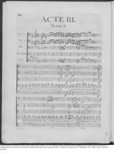 Amadis des Gaules, Overtüre - Partitur, W G39: Akt III – Partitur by Johann Christian Bach
