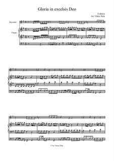 Gloria in Excelsis Deo: Für Blockflöte und Orgel by folklore