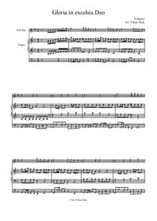 Gloria in Excelsis Deo: Für Altsaxophon und Orgel by folklore
