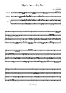 Gloria in Excelsis Deo: Für Violine, Viola und Klavier by folklore