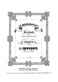 Serenade für die linke Hand: Für Klavier by Louise Chouquet