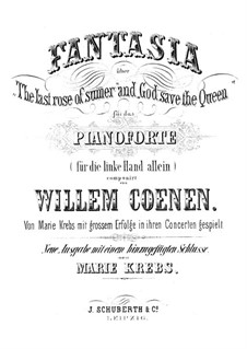 Fantasia Over 'The Last Rose of Summer' and 'God Save the Queen': Für die linke Hand allein by Willem Coenen