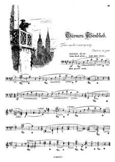 Musikalisches Bilderbuch, Op.41: Thürmers Abendlied, für die linke Hand allein by Alexis Holländer