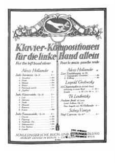 Sechs Klavierstücke für die linke Hand, Op.31: Für Klavier by Alexis Holländer