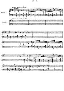 Fantasie für Klavier und Orchester, Op.111: Version für zwei Klaviere, vierhändig by Gabriel Fauré