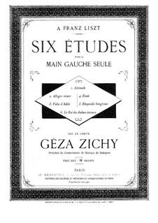 Sechs Etüden für die linke Hand allein: Für Klavier by Géza Zichy