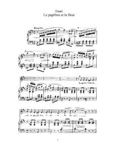 Zwei Lieder, Op.1: Nr.1 Der Schmetterling und die Blume (in D-Dur) by Gabriel Fauré