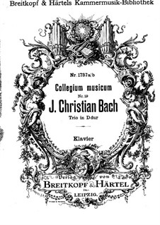 Nr.3 in D-Dur, W B45: Version für Violine, Cello und Klavier – Partitur by Johann Christian Bach