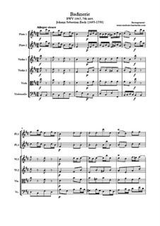 Orchestersuite Nr.2 in h-Moll, BWV 1067: Badinerie, für Salonorchester by Johann Sebastian Bach
