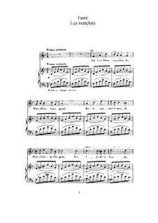 Zwei Lieder, Op.2: Nr.2 Die Matrosen (in Es-Dur) by Gabriel Fauré