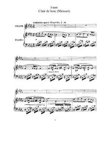 Zwei Lieder, Op.46: No.2 Clair de lune (Moonlight) by Gabriel Fauré