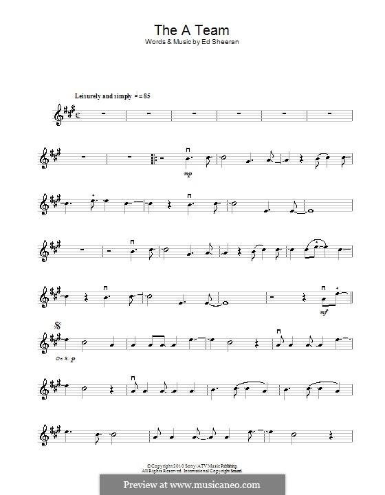The a Team: Für Violine by Ed Sheeran