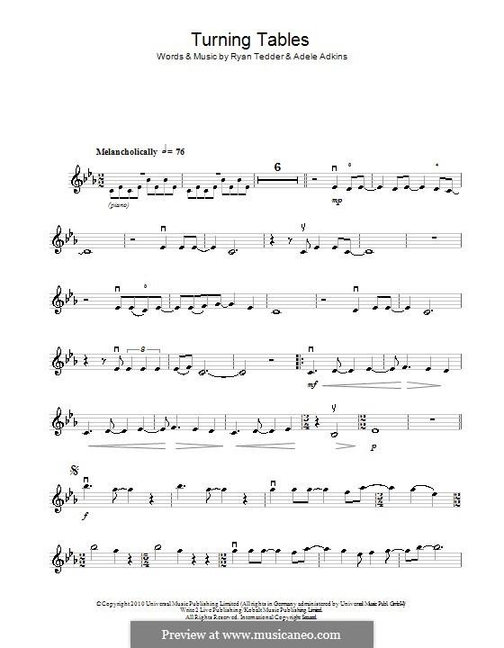 Turning Tables: Für Violine by Adele, Ryan B Tedder