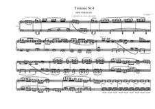 Tristesse No.4 for piano, MVWV 503: Tristesse No.4 for piano by Maurice Verheul