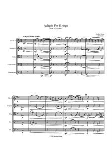 Adagio for Strings: Adagio for Strings by Jordan Grigg