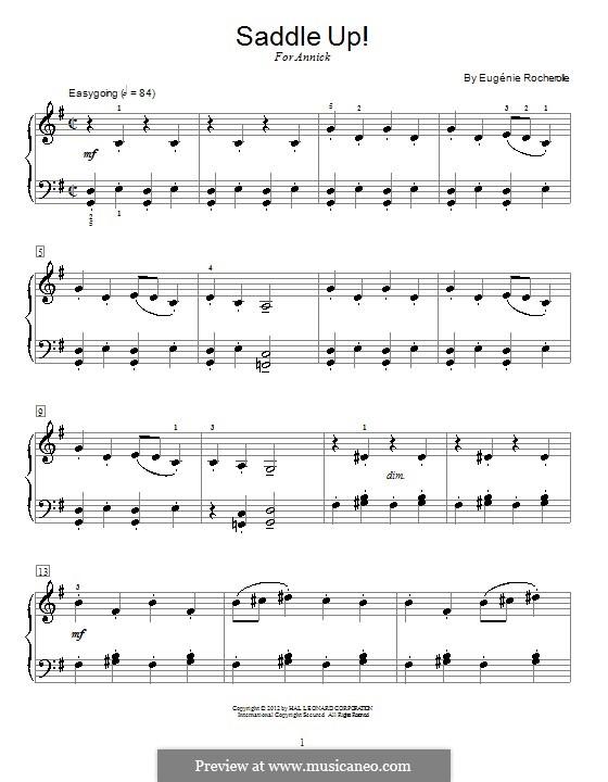 Saddle Up!: Für Klavier by Eugénie Rocherolle