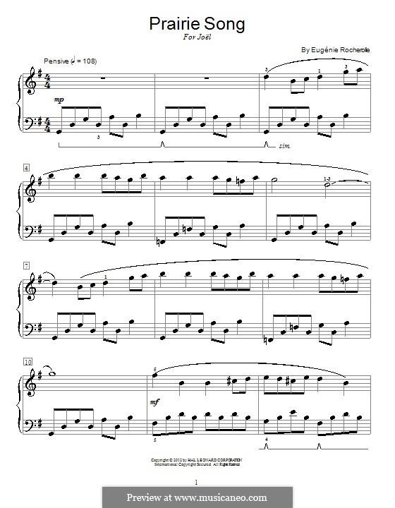 Prairie Song: Für Klavier by Eugénie Rocherolle