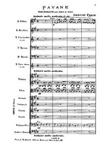 Pavane, Op.50: Für Orchester und Chor by Gabriel Fauré