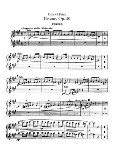 Pavane, Op.50: Flötenstimme by Gabriel Fauré