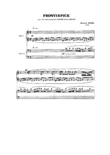 Frontispice, for piano four hands: Frontispice, for piano four hands by Maurice Ravel