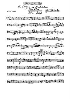 Freue dich, erlöste Schar, BWV 30: Cello- oder Kontrabassstimme by Johann Sebastian Bach