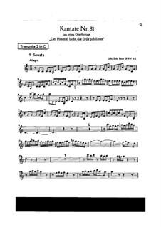 Der Himmel lacht! Die Erde jubilieret, BWV 31: Trompetenstimme I in C by Johann Sebastian Bach