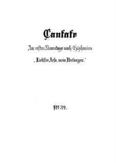 Liebster Jesu, mein Verlangen, BWV 32: Vollpartitur by Johann Sebastian Bach