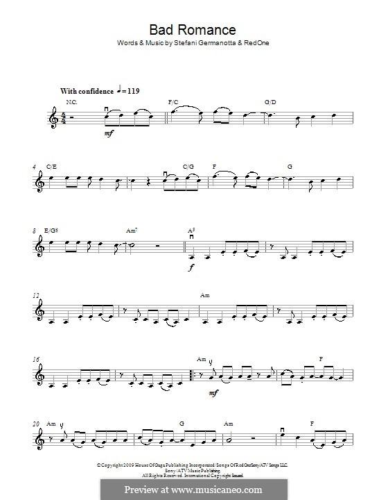 Bad Romance (Lady Gaga): Für Violine by RedOne, Stefani Germanotta