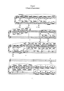 Drei Lieder, Op.5: No.1 Chant d'automne by Gabriel Fauré
