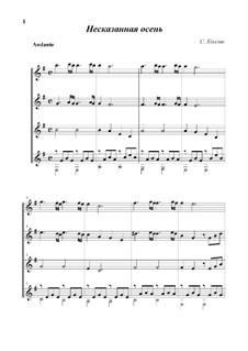 Ineffable Autumn: For quartet by Sergej Kolgan