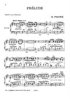 Pelléas et Mélisande, Op.80: Präludium, für Klavier by Gabriel Fauré