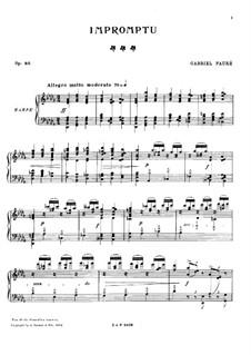 Impromptu für Harfe No.6 in Des-Dur, Op.86: Für einen Interpreten by Gabriel Fauré