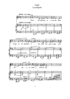 Drei Lieder, Op.8: No.2 La rançon (C Minor) by Gabriel Fauré