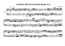 5 Simple pieces for piano: Fourth book, No.4, MVWV 697 by Maurice Verheul
